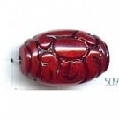 kunststofkralen 30mm rood ovaal