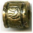 kunststofkralen 13mm oudgoud cilinder