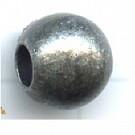 kunststofkralen 10mm oudzilver rond 5