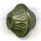 kunststofkralen - groen konisch