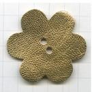 leerschijfjes 50mm goud bloem leer