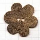 leerschijfjes 50mm goud bloem leer kleurnummer 222