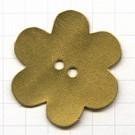 leerschijfjes 50mm goud bloem leer kleurnummer 223