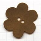 leerschijfjes 50mm goud bloem leer kleurnummer 224