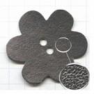 leerschijfjes 50mm zilver bloem leer