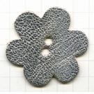 leerschijfjes 50mm zilver bloem leer kleurnummer 232