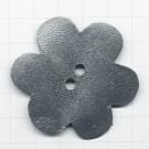 leerschijfjes 50mm zilver bloem leer kleurnummer 233