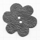 leerschijfjes 50mm zilver bloem leer kleurnummer 234