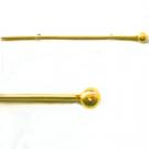 bolkopstiften 40mm goud stift metaal