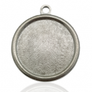 hanger kastjes 23mm zilver rond