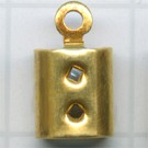 eindklemmen 4mm goud rechthoek
