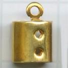 eindklemmen 5mm goud rechthoek