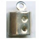 eindklemmen 5mm zilver rechthoek kleurnummer 771