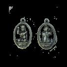 bedels 31mm zilver boeddha metaal