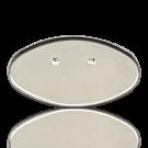 Broche basis 70x40mm zilver ovaal metaal