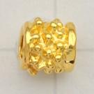 kralen 7mm goud cilinder metaal kleurnummer 737