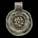 tinhangers 25mm oudzilver rond tin