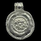 tinhangers 25mm zilver rond tin