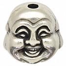 kralen 20mm oudzilver boeddha tin
