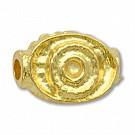 kralen 12mm goud ovaal tin