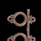 kapittelsluitingen 14mm brons rond