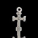 hangers 16mm oudzilver kruis metaal