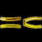 Metalen buisje 26mm goud gebogen