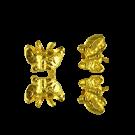 Kraal metaal vlinder 9mm goud