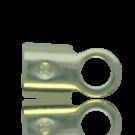 eindklemmen 2mm verzilverd rechthoek kleurnummer 771