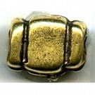 kralen 7mm oudgoud rechthoek tin