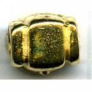 kralen 7mm goud rechthoek tin