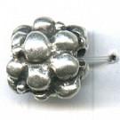 kralen 13mm oudzilver rond tin