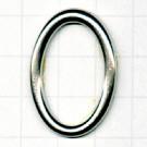 ringen 30mm oudzilver ovaal metaal