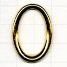ringen 30mm goud ovaal metaal