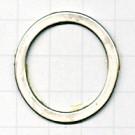 ringen 32mm zilver rond metaal