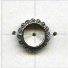 ringen 10mm oudzilver rond metaal