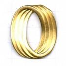 ringen 34mm goud ovaal metaal