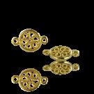 Metalen filigrain tussenzetsel hanger met 2 oogjes 20mm verguld