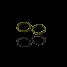 Metalen gesloten ring rechthoek ovaal 15mm oudgoud
