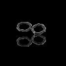 Metalen gesloten ring rechthoek ovaal 15mm oudzilver