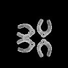 Hanger bedeltje hoefijzer 11mm zilver