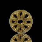 Kapjes 10mm metaal goud rond