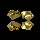 Metalen kralen kapje van staal 13mm goud