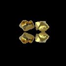 Metalen kralen kapje van staal 6mm goud