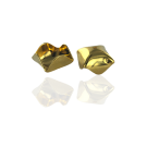 Metalen kralen kapje van staal 9mm goud