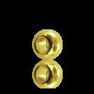 grootgatskralen 6mm goud rond kleurnummer 737
