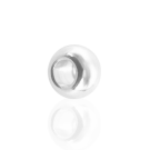 Metalen kraal groot gat 8mm verzlverd rond
