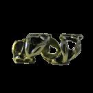 Metalen kraal  22mm oudgoud met bloem