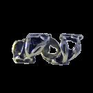 Metalen kraal 22mm oudzilver met bloem