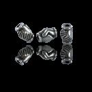 Metalen kralen verzilverd 925 vriendschap liefde 9mm oudzilver